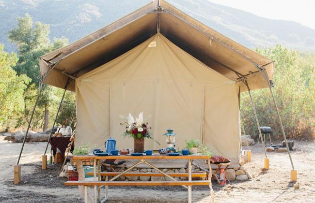 camping elopement