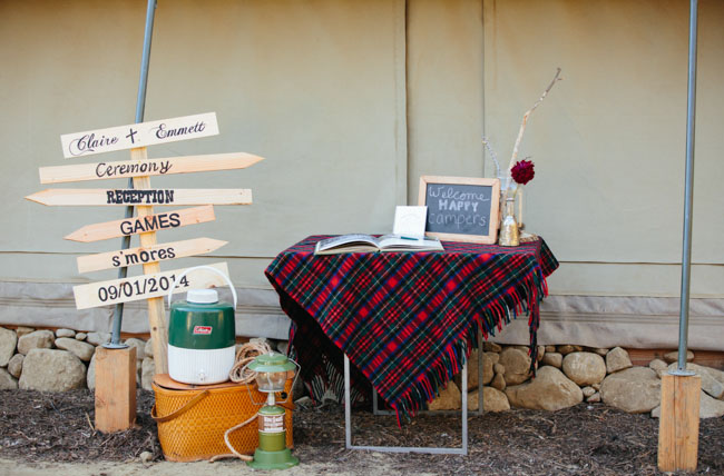 camping inspired guest book