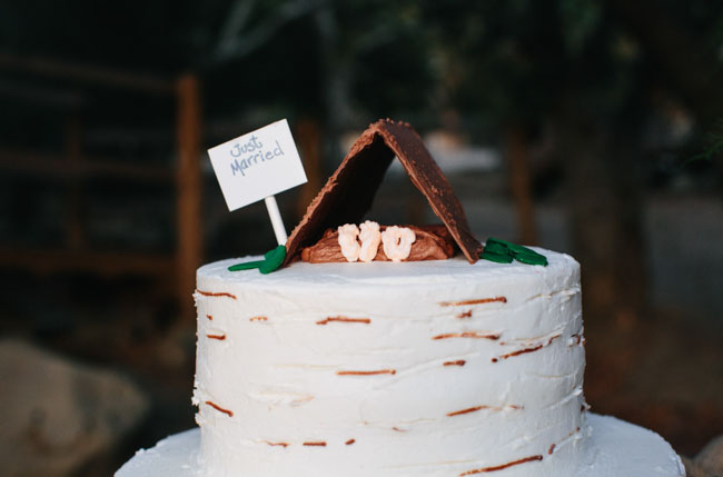 tent cake topper