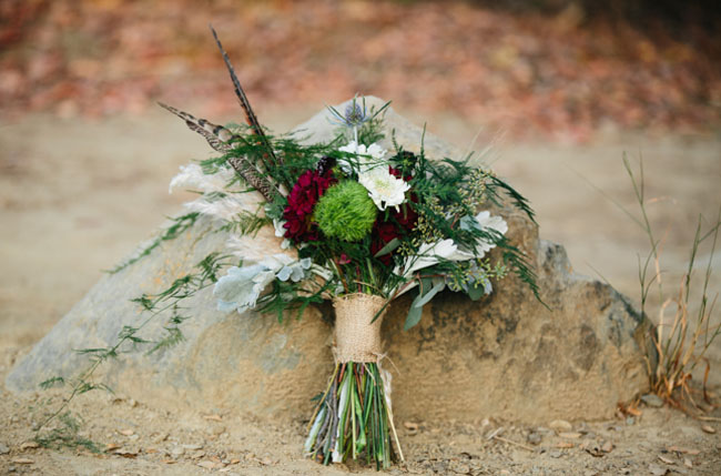 camping inspired bouquet