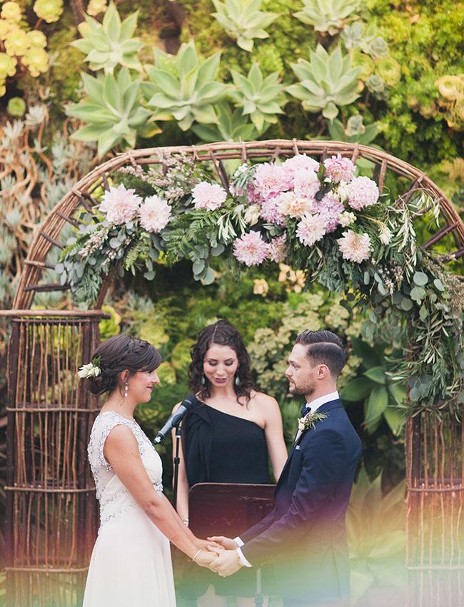 floral garland ceremony arbor