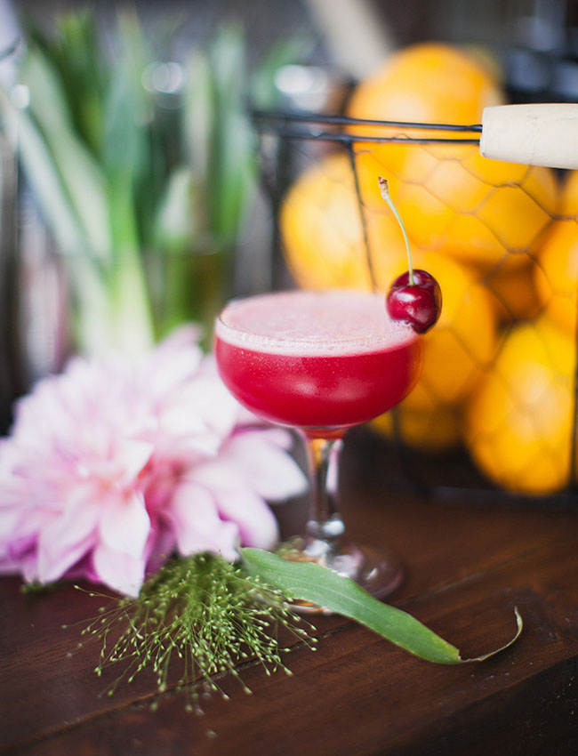 cherry gimlet drinks