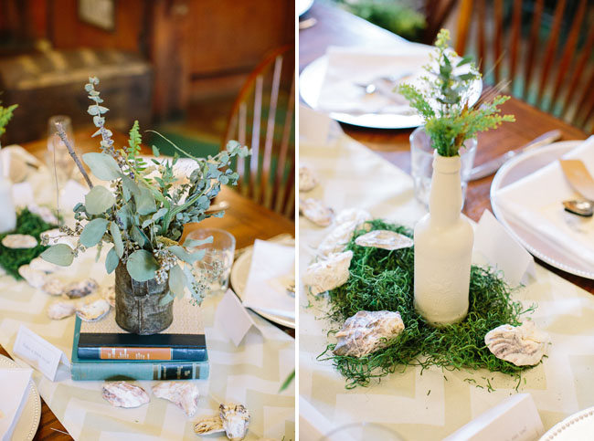 moss table centerpiece