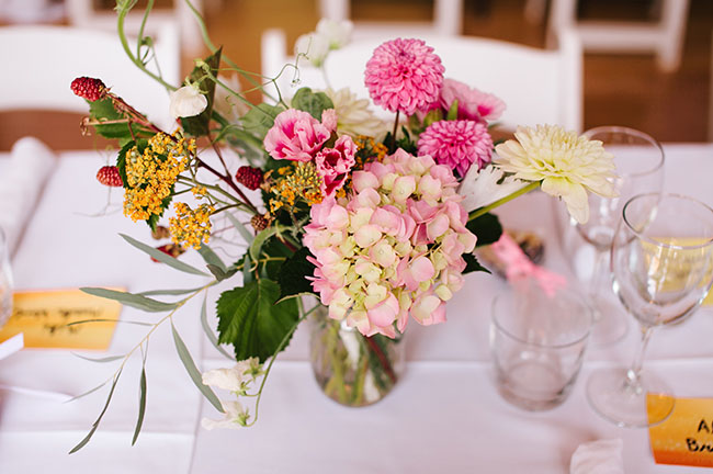 flower garden centerpiece