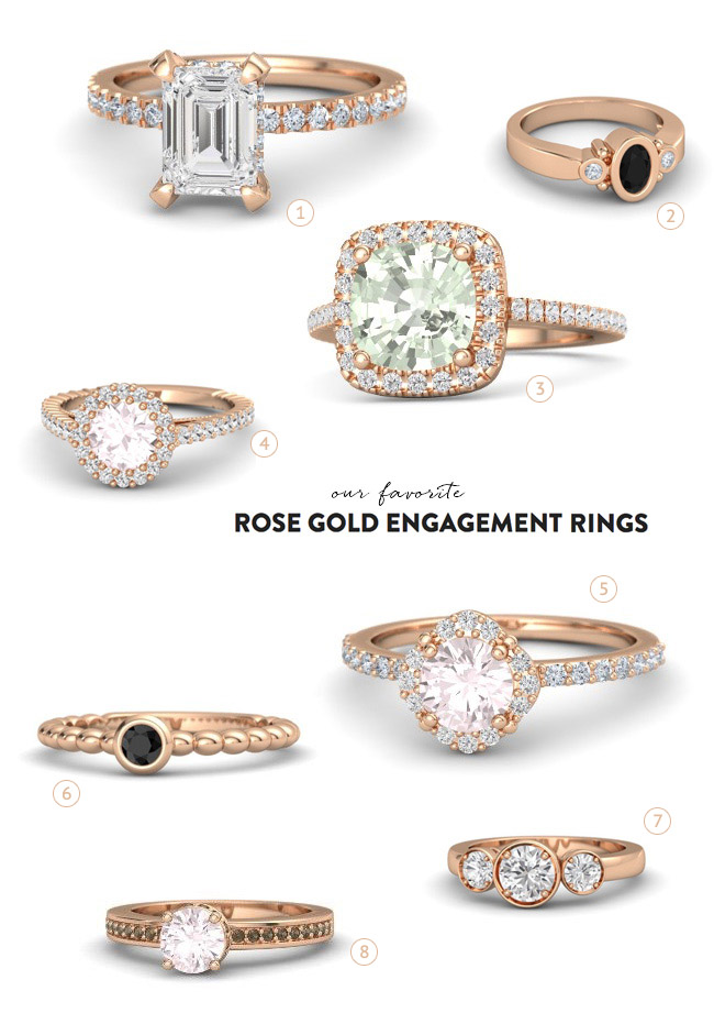 Rose gold rings from Gemvara