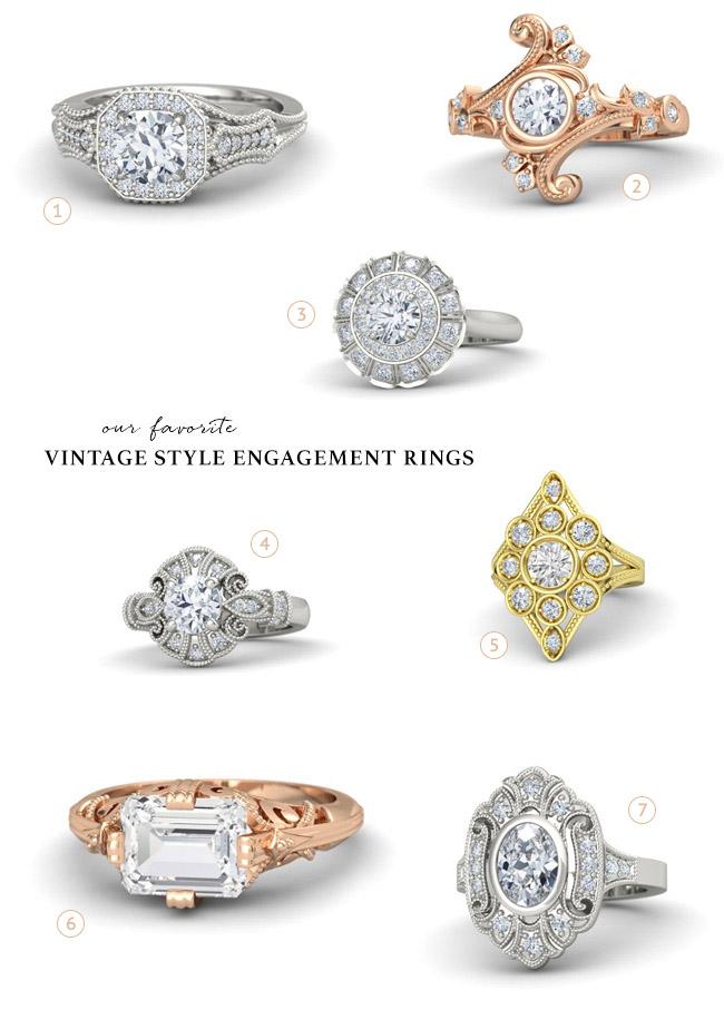 Vintage rings from Gemvara