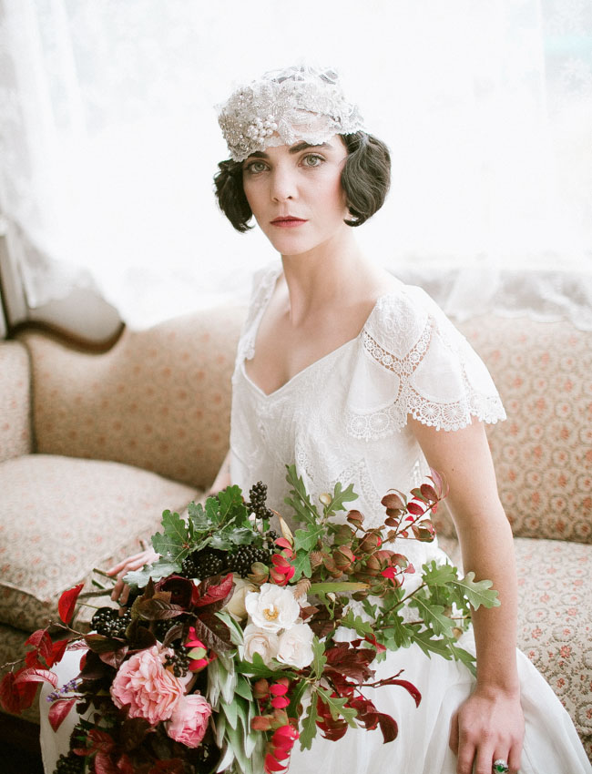 vintage inspired bride