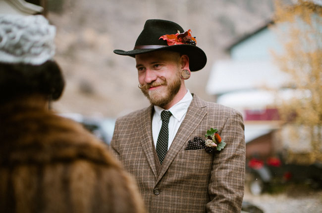 fall groom hat
