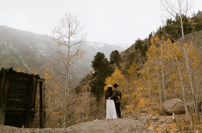 Colorado Ghost Town wedding