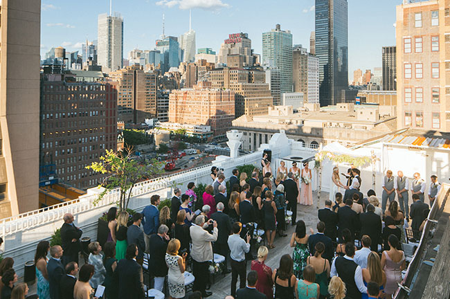 New York rooftop wedding