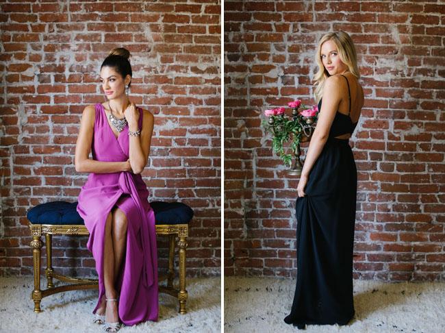 glam bridesmaid dresses