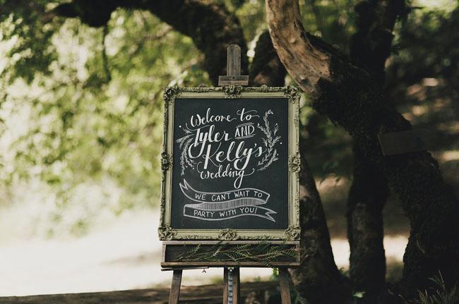 chalkboard calligraphy sign