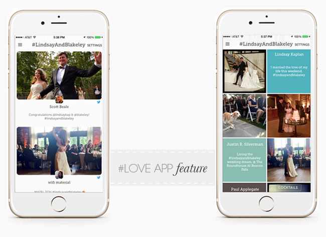 Zola LoveApp Feature