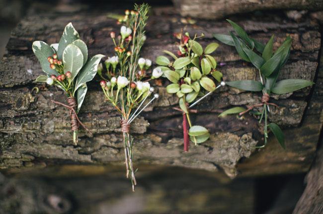 woodland boutonnieres