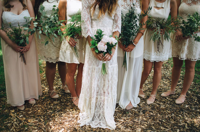 green leafy bouquets