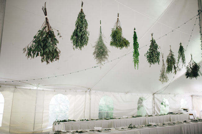 hanging green bouquets