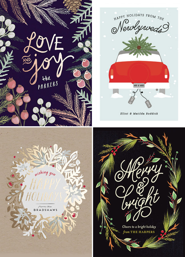 Minted non photo holiday card