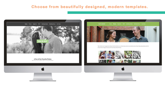 modern wedding website templates