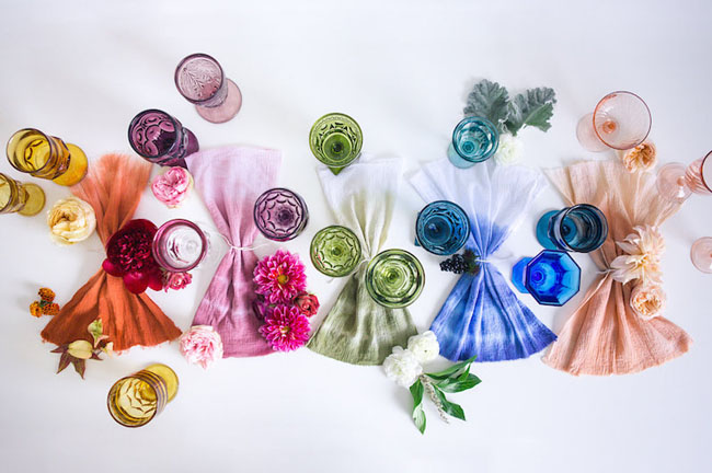 hand dyed napkins