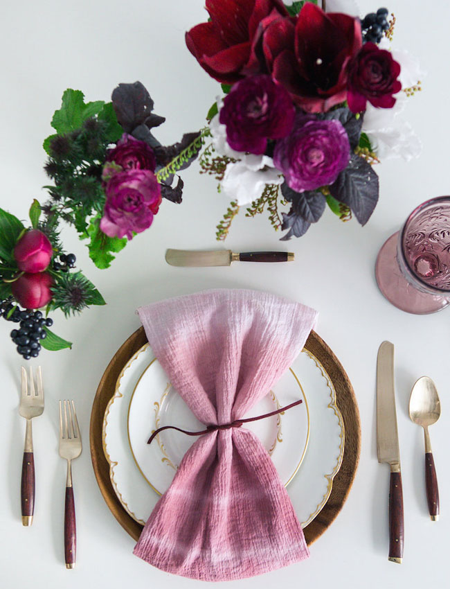 rose ombre napkin