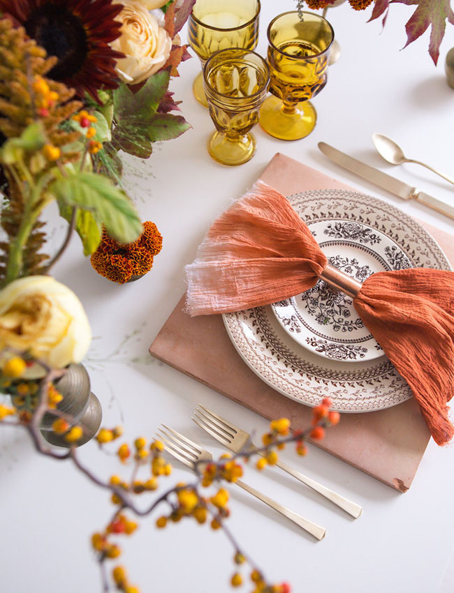 orange ombre napkin