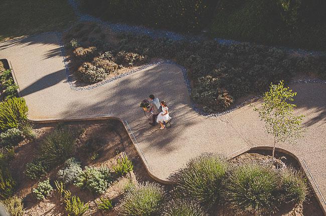 bride riding on bike
