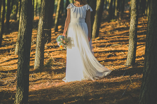 David Christian wedding dress