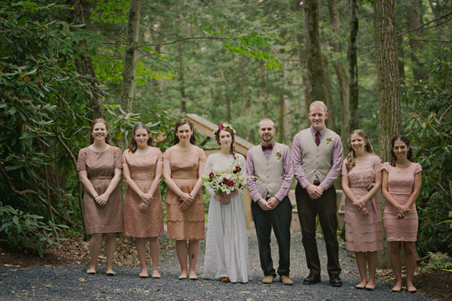 bohemian wedding party