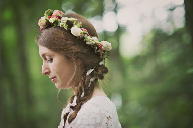 flower crown ribbon braid