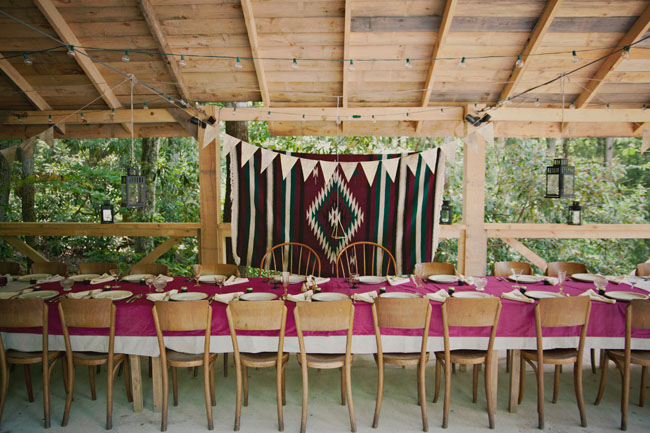boho blanket backdrop