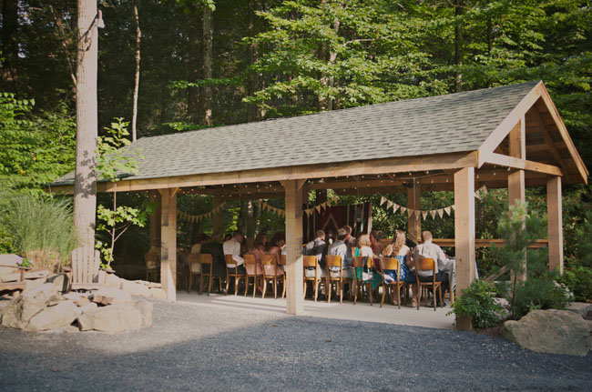 intimate dinner in the woods