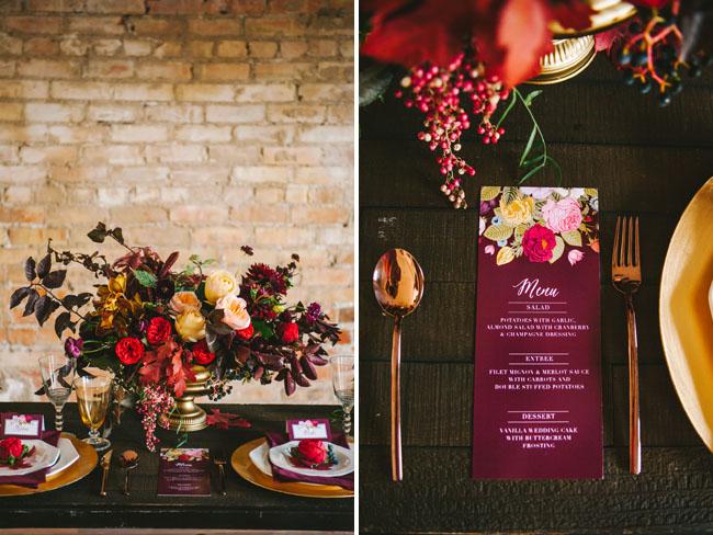 vibrant fall romance menu