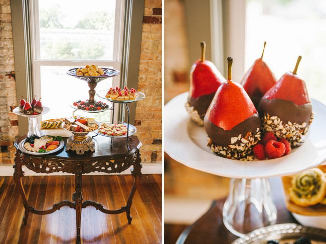 vibrant fall romance dessert table