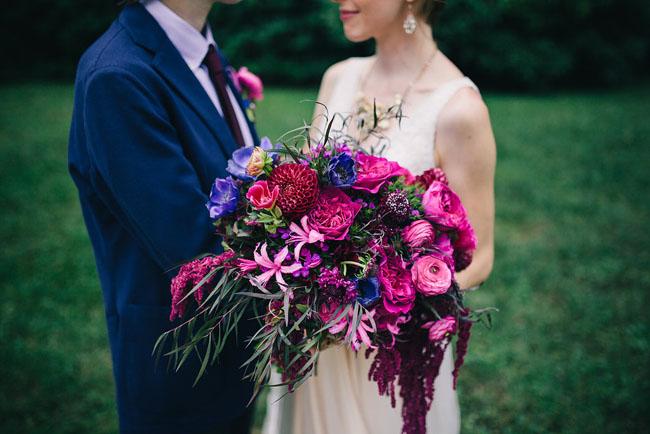 secret garden purple bouquet