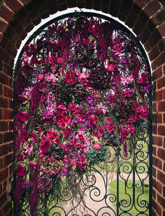 floral covered gate