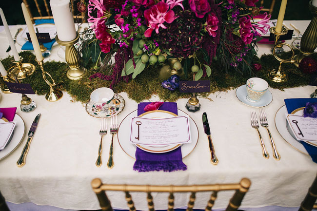 secret garden tablescape