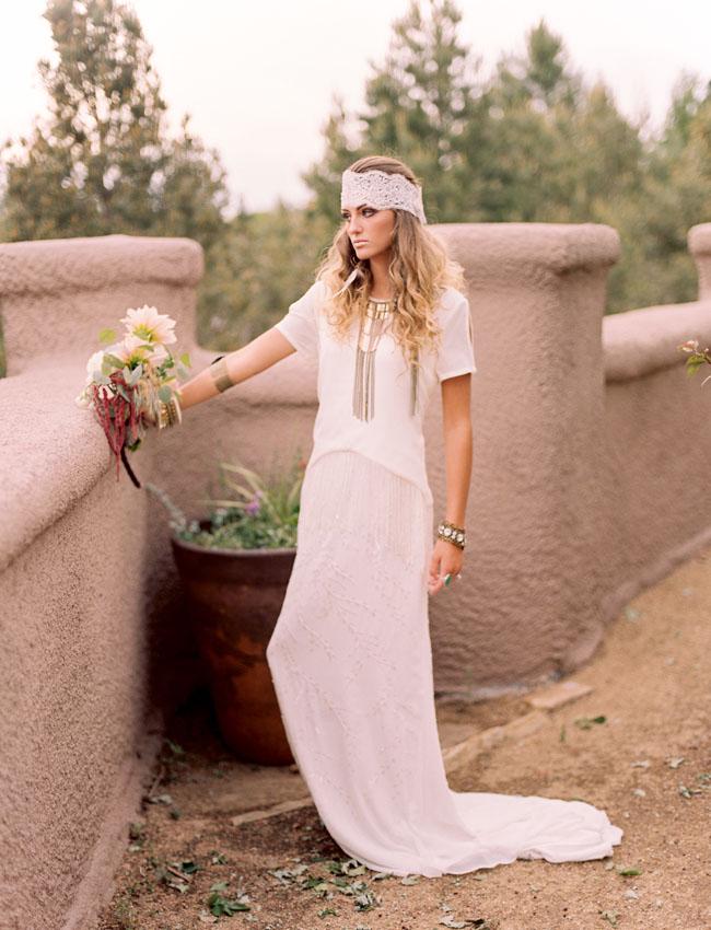 Southwest bohemian bride