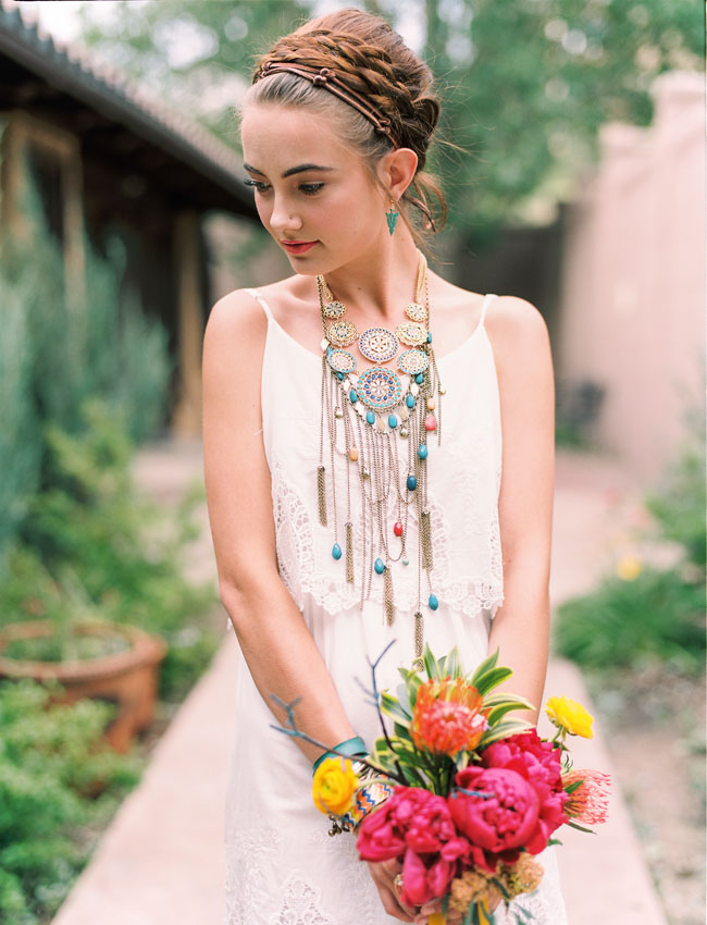 Western Themed Wedding Dresses 54 Perfect southwest statement necklace