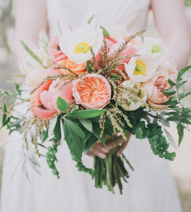 poppy and juliet rose spring bouquet