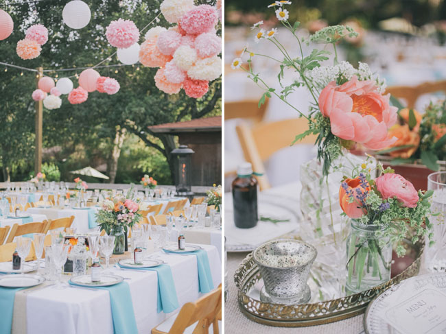 spring colored reception