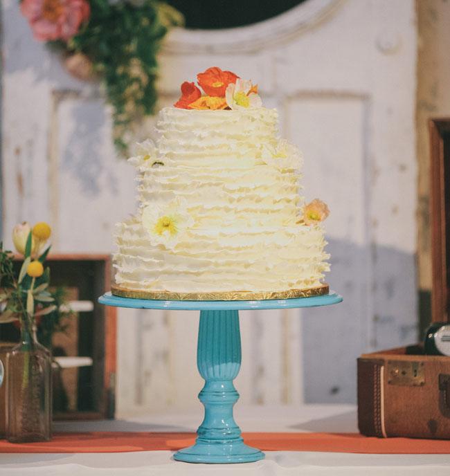 ruffle yellow cake