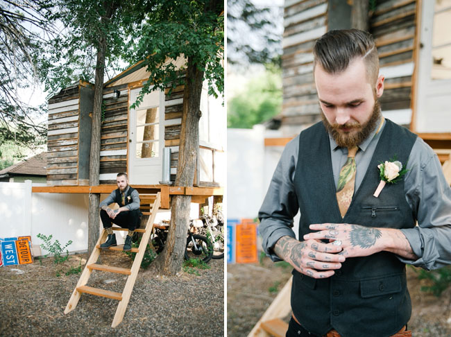 tatted groom