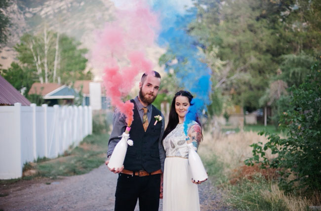 smoke bomb engagement