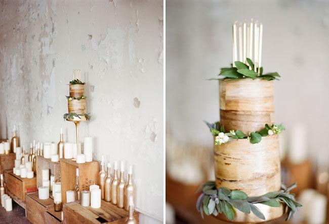 wooden inspired cake