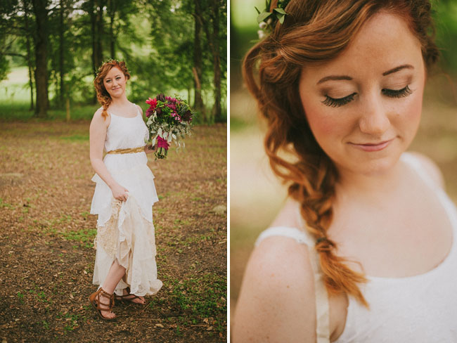 boho braided bride