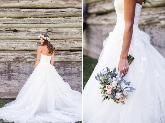 woodsy vintage bride