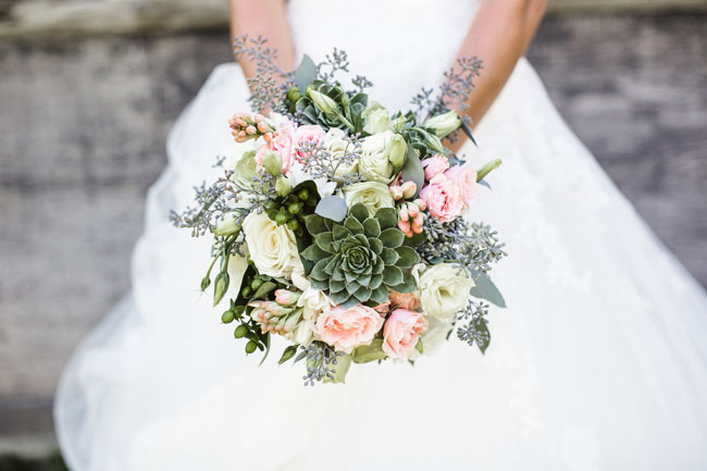 romantic succulent bouquet