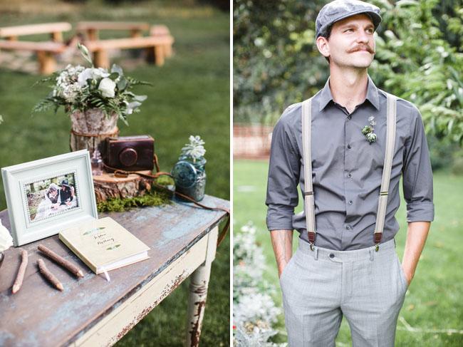 vintage groomsmen with hat