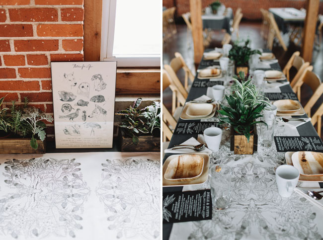 hand drawn table runners