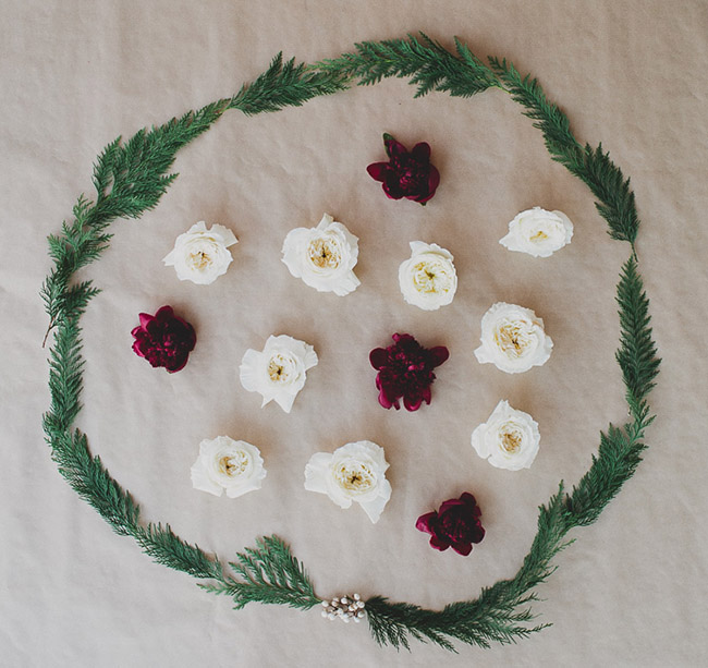 Seasonal Flower Guide: Winter, Winter Wreath with Winter Flowers